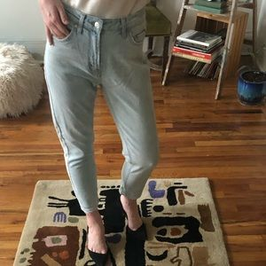 Wild Fable High Waisted Straight Light Wash Jeans
